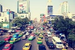 Traffic jam on bangkok,thailand Royalty Free Stock Photo