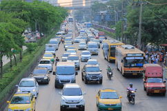 Traffic jam Bangkok Thailand Stock Images