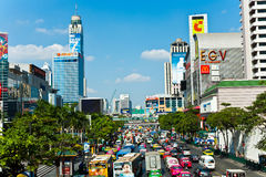 Traffic jam in Bangkok Stock Photo