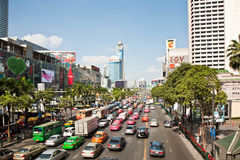 Traffic jam in Bangkok Royalty Free Stock Photography