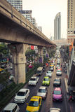 Traffic jam in Bangkok Royalty Free Stock Images