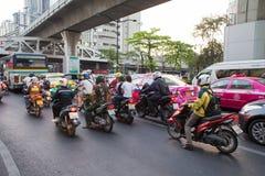 Daily traffic jam Stock Photos