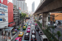 Daily traffic jam in Bangkok Royalty Free Stock Photography