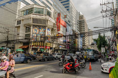 Traffic jam in Bangkok, Thailand Stock Photos