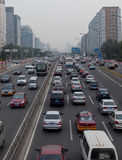 Traffic jam in Beijing, China Stock Photo