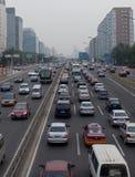 Traffic jam in Beijing, China stock photo