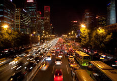 Traffic jam in Beijing, China Stock Image