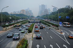 Traffic Jam in Beijing Royalty Free Stock Images