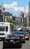 Traffic jam on Broadway street Royalty Free Stock Image