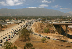 Traffic jam in California Stock Images