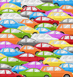 Traffic Jam With Cars. Road Background Royalty Free Stock Photos