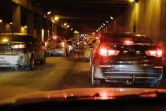 Traffic jam of cars Royalty Free Stock Image