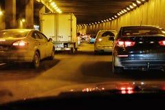 Traffic jam of cars Royalty Free Stock Photo