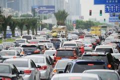 Traffic jam in Chengdu Royalty Free Stock Images