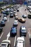 Traffic jam in China Stock Photos
