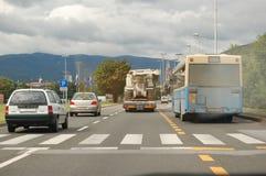 Traffic jam in the city. Traffic jam in Zagreb, Croatia Stock Image