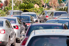 Traffic jam in the city Stock Image