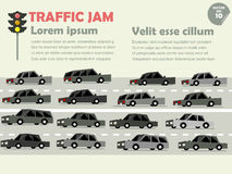 Traffic jam concept Royalty Free Stock Images