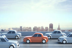 Traffic jam concept Stock Image