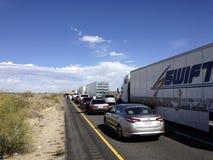 Traffic Jam in the Desert Stock Images