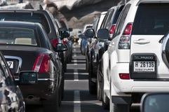 Traffic Jam in Dubai royalty free stock photos