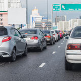 Traffic jam on express way in rush hour Royalty Free Stock Photography