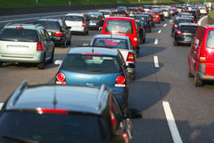 Traffic jam Stock Images