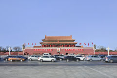 Traffic jam in front of Palace Museum, Beijing, China Royalty Free Stock Image