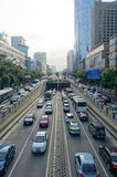Traffic jam chengdu china Stock Photography