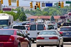 Summer traffic jam Stock Photos
