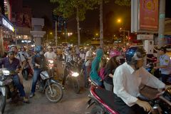 Traffic Jam in Hanoi City Vietnam Royalty Free Stock Photos