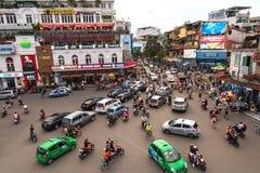 The traffic jam at Hanoi old quarter Stock Images