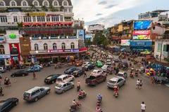 The traffic jam at Hanoi old quarter Stock Photography