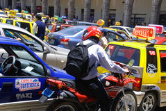 Traffic jam in the heart a the city of Arequipa Royalty Free Stock Images
