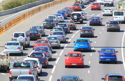 Traffic jam highway Melbourne Australia Royalty Free Stock Photos