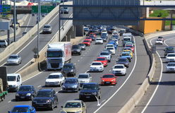 Traffic jam highway Melbourne Australia Royalty Free Stock Photo