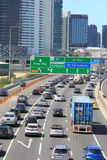 Traffic jam highway Melbourne Australia Stock Image