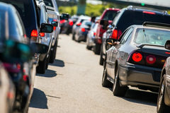 Traffic jam 2. Traffic jam on the highway Royalty Free Stock Photo