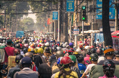Traffic jam in HO CHI MINH CITY, VIETNAM Royalty Free Stock Photography