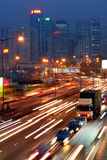 Traffic jam in Hong Kong Stock Image