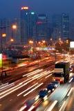 Traffic jam in Hong Kong stock image