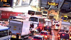 Traffic jam in Hong Kong stock video footage