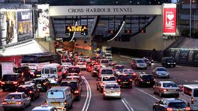 Traffic jam in Hong Kong. Almost 365 days would have traffic jam in Hong Kong harbour tunnel. Driver need to be patient when driving.n stock footage