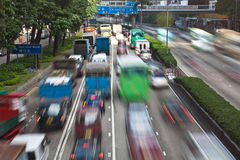 Traffic jam in Hong Kong Royalty Free Stock Photos