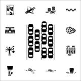 Traffic jam icon. chaos icons universal set for web and mobile. On white background vector illustration
