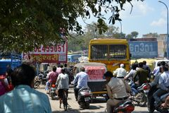 Traffic Jam in Indian City Royalty Free Stock Photos