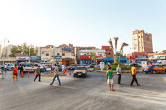 A traffic jam on the intersection. Stock Images