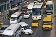 Traffic jam in Istanbul royalty free stock photos