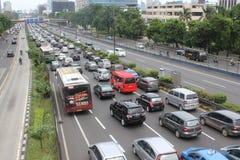 Traffic Jam in Jakarta Stock Images