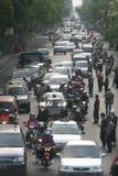 Traffic jam in Jakarta Indonesia Stock Image